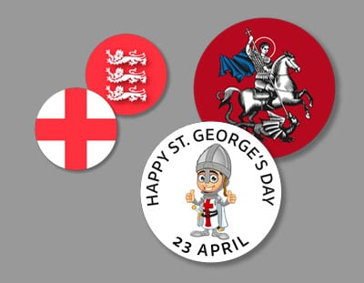 St. George Button Badges