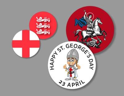 St. George Button Badges